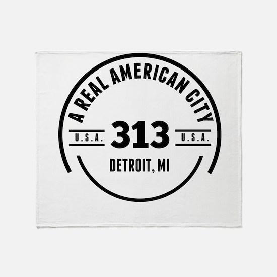 A Real American City Detroit MI Throw Blanket