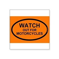 "Funny Motorcycles Square Sticker 3"" x 3"""