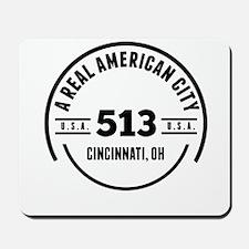 A Real American City Cincinnati OH Mousepad