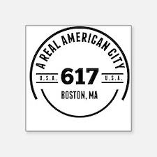 A Real American City Boston MA Sticker