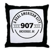 A Real American City Anchorage AK Throw Pillow