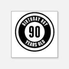 Birthday Boy 90 Years Old Sticker
