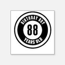 Birthday Boy 88 Years Old Sticker