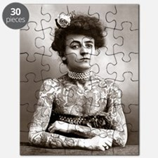Tattooed Lady, 1907 Puzzle