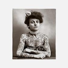 Tattooed Lady, 1907 Throw Blanket