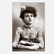 Tattooed Lady, 1907 Postcards (Package of 8)