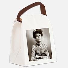 Tattooed Lady, 1907 Canvas Lunch Bag