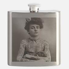 Tattooed Lady, 1907 Flask