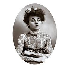 Tattooed Lady, 1907 Oval Ornament