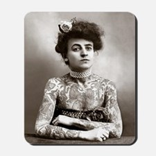 Tattooed Lady, 1907 Mousepad