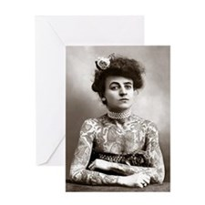 Tattooed Lady, 1907 Greeting Card