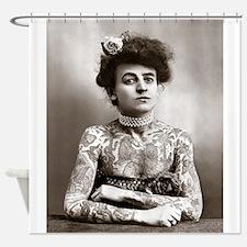 Tattooed Lady, 1907 Shower Curtain