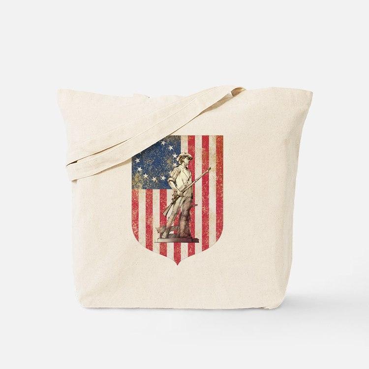 Concord Minuteman, Shield Tote Bag