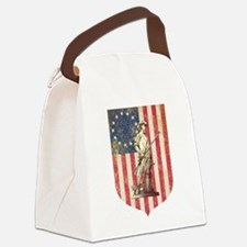 Concord Minuteman, Shield Canvas Lunch Bag