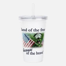 land of the free Acrylic Double-wall Tumbler