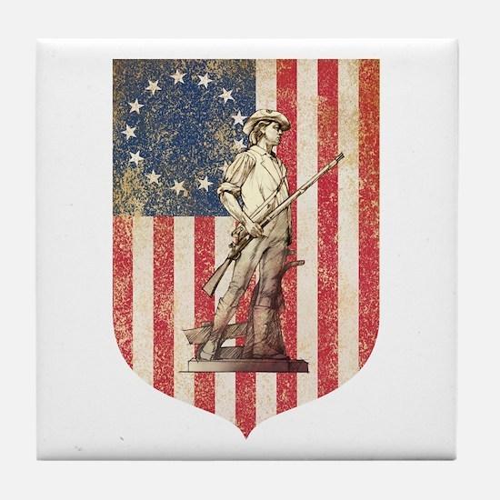 Concord Minuteman, Shield Tile Coaster