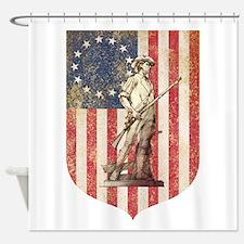 Concord Minuteman, Shield Shower Curtain