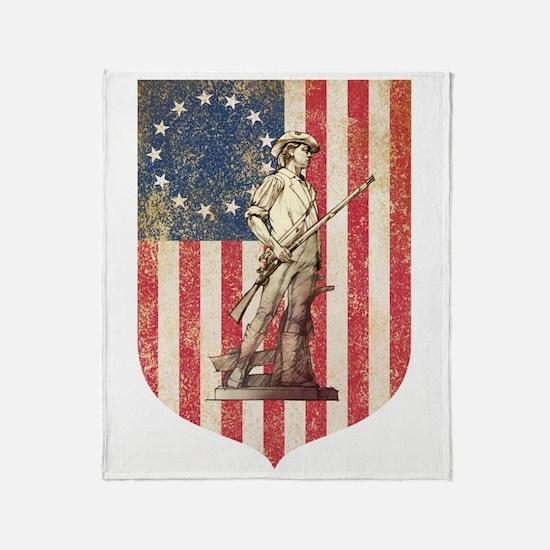 Concord Minuteman, Shield Throw Blanket