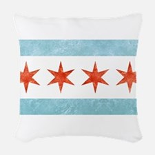Chicago Flag Woven Throw Pillow