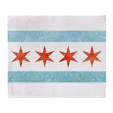 Chicago Flag Throw Blanket