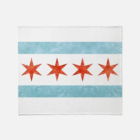 Chicago Flag Throw Blanket