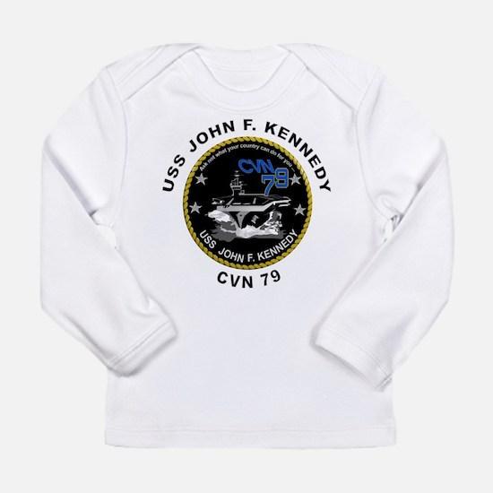 USS John Kennedy CVN-79 Long Sleeve Infant T-Shirt