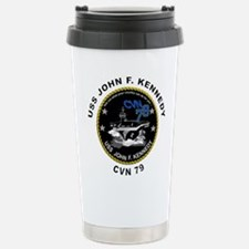 USS John Kennedy CVN-79 Stainless Steel Travel Mug