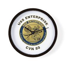 USS Enterprise CVN-80 Wall Clock