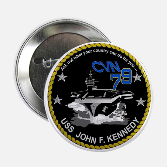"USS John Kennedy CVN-79 2.25"" Button"