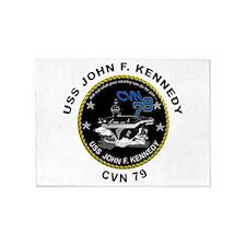 USS John Kennedy CVN-79 5'x7'Area Rug