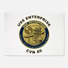 USS Enterprise CVN-80 5'x7'Area Rug