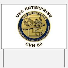 USS Enterprise CVN-80 Yard Sign