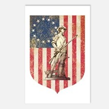 Concord Minuteman, Shield Postcards (Package of 8)