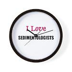 I Love SEDIMENTOLOGISTS Wall Clock