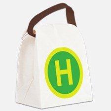 Helipad Sign Canvas Lunch Bag