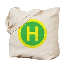 Helipad Sign Tote Bag