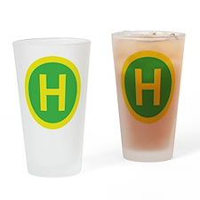 Helipad Sign Drinking Glass