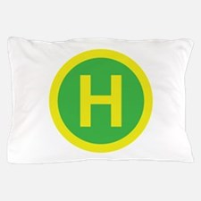 Helipad Sign Pillow Case
