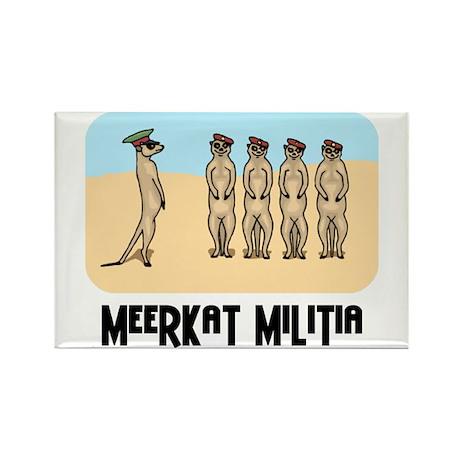Meerkat Militia Rectangle Magnet