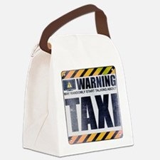 Warning: Taxi Canvas Lunch Bag