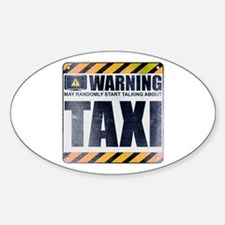 Warning: Taxi Oval Decal
