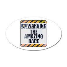 Warning: The Amazing Race 22x14 Oval Wall Peel
