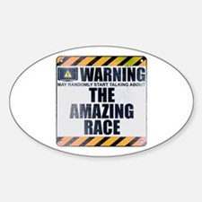Warning: The Amazing Race Oval Decal