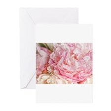 Blooming pink peonies 2 Greeting Cards