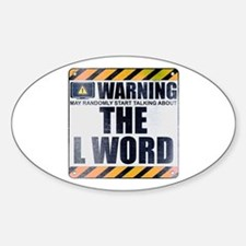Warning: The L Word Oval Stickers