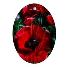 I love poppies Oval Ornament
