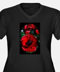 I love poppies Plus Size T-Shirt