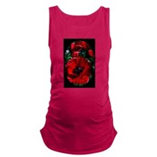I love poppies Maternity Tank Top