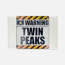Warning: Twin Peaks Rectangle Magnet