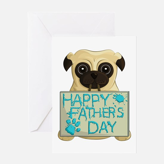 Father's Day Pug Greeting Cards